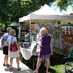 2012 Coronado Art Walk colorful booths 2