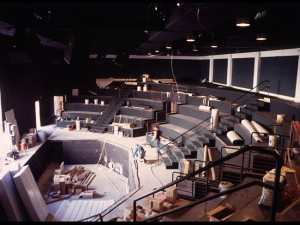 Construction began (and was completed) in 1994 to build Lamb's Players Theatre and restore the space  to its original intention of use.