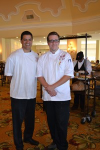 Julian Quiñones, executive sous chef (left) and  Brian Kersey, banquet sous chef.