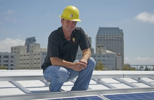 Dan Sullivan, president and founder of Sullivan Solar Power, has built his firm into one of the largest solar-system providers in Southern California. This system atop the San Diego Cruise Ship Terminal is comprised of 468 solar modules that generate 60,000 watts of power.