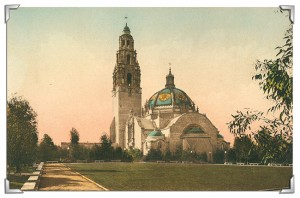 The California Tower and the California Building were permanent constructions for the 1915 Panama-California Exposition. The tower will reopen for tours in 2015 as part of the centennial celebration. courtesy David Marshall Postcard Collection