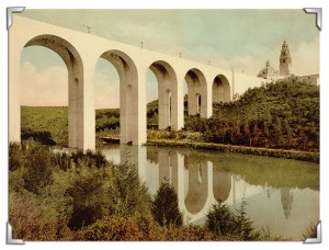 The Cabrillo Bridge as it stood in 1915. courtesy David Marshall Postcard Collection
