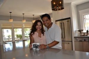 Coffee break time! Chander and Jami did much of the work on their updated kitchen.