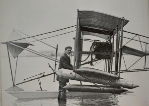 "Aviation pioneer Glenn Curtiss conducted numerous experiments in 1911 with his ""hydroaeroplane"" in San Diego Bay; the plane was just one of his many advancements in aviation that happened in a concentrated three-year period in the infancy days of North Island."