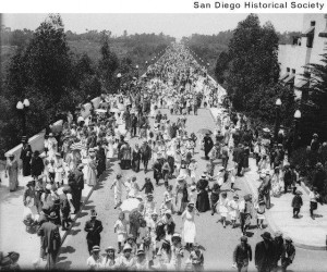 On opening day of the exposition 43,000 people attended — more than San Diego's population at the time.  courtesy San Diego Historical Society