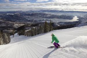 Deer Valley groomed skiing photos courtesy of Deer Valley Resort