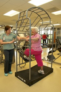 Personal trainers are available to direct workouts at the Sewall Healthy Living Center.