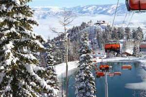 "The ""Orange Bubble Express"" at Canyons Resort is the first and only heated and covered chairlift in the United States."
