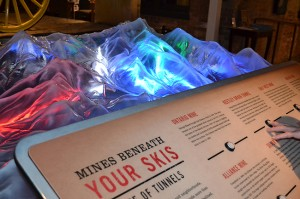 At the Park City Museum, this scale model lights up the 1,000 miles of underground former mines that lie beneath the area's popular ski resorts.