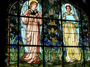 Christ Church's stained glass windows, crafted in the Tiffany Studios in New York, were installed in 1895 and cost nearly $6,100 at that time.