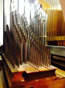 More than 1,500 pipes — from the size of a pencil to 18 feet long — comprise the church's organ, which recently went through a six-month refurbishment at the Reuters Organ Company in Kansas.