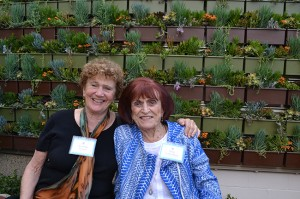 Blossom Sanger and Mary Sandermann made generous donations to create the healing garden environment at Mindful Café.