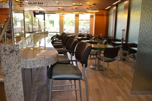A breakfast bar is a perfect spot for diners to grab a healthy bite to eat.