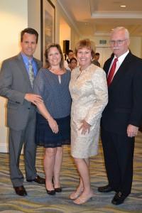 Dan and Chris Gensler, Susan and Corbett Stone