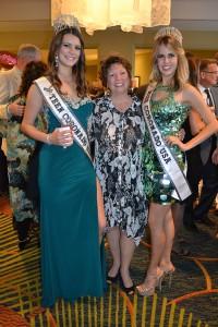 Miss Teen Coronado Katie Hearther, Candy Tyler (Miss Coronado 1965) and Miss Coronado Susanna Wiggins