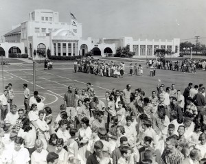 Coronado High School fire drill, c. 1957. Photo courtesy Coronado Historical Association