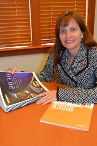 Coronado City Council's SANDAG representative Carrie Downey reviews SANDAG's 2030 San Diego Regional Transportation Plan.