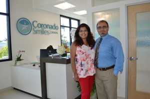 "Dr. Katee Afshar, a dentist, and her husband, Patrick Yassini, a medical doctor, are beaming as Afshar opens her new dental practice, ""Coronado Smiles."""