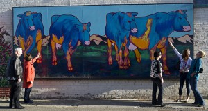 "The ""Blue Cows"" mural is one of 40 murals in Lompoc's Old Town. courtesy ExploreLompoc"