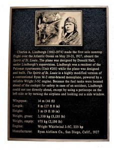 Lindbergh plaque