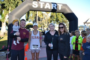 Turkey Trot sponsors (from left) Chris Foote, with daughter Lux, of Coronado Fitness Club, Wanda Aurich, Alexis Reitmeyer of Coronado Bliss and Hattie Foote will again be ready to take off for the 2015 Turkey Trot.