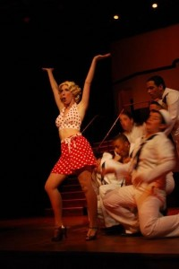 Palmer was part of the dance troupe in Anything Goes, at Miracosta College in 2009.