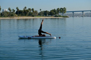 P is for paddleboard pilates