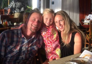 Amanda McPhail with husband Chris Russell and daughter, Grace.