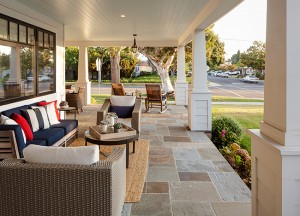 Large front porches such as this one designed by architect Christian Rice in the Country Club area contribute to Coronado's friendly neighborhoods.