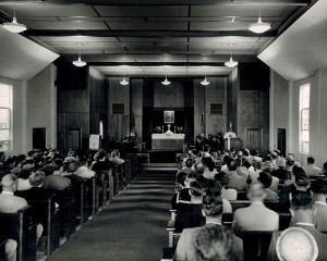 Inside the U.S. Naval Station Memorial Chapel