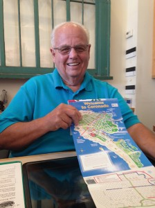 Today Jim Menges is a volunteer at the Coronado Visitor Center.