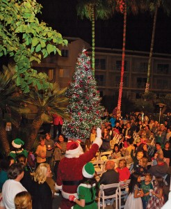 Christmas tree lighting at Loews Coronado Bay Resort, Nov. 29