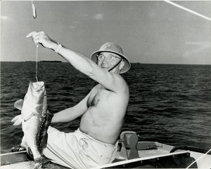 When President Harry S. Truman needed rest and recovery, he frequently headed to Key West, where a favorite pastime was fishing.  On this day, the president's catch included a three-pound grouper and a six-pound yellowtail.