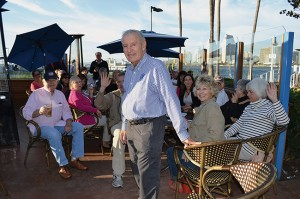 Spiro Chaconas welcomed fellow Rotarians at a recent happy hour gathering at Spiro's Greek Cafe.
