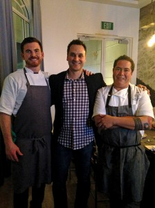 Crown Landing was a team effort of (from left) restaurant chef Jamie Dunn, Loews Coronado's Bay Resort's director of food and beverage Eric Jenkins and executive chef Chris Aguirre.