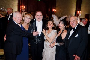 Dean and Nancy Eckenroth, Charles and Linda Hayes and Maria and Carl Caccamise have enjoyed many of the hospital balls.