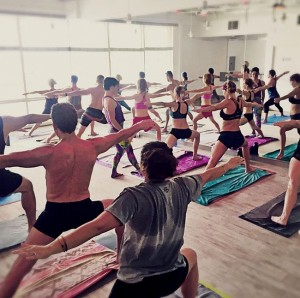 Some like it hot:  It's 105 degrees inside the studio at Coronado Hot Yoga; the better to warm up those tendons and ligaments in accordance to the principals and teachings of yoga guru Bikram Choudhury.