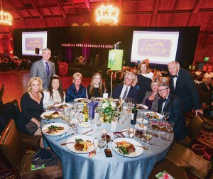 Sharp Healthcare's President and CEO Mike Murphy, seated third from right, is a regular attendee of Sharp Coronado Hospital's galas.