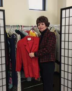 "Cathy McJannet organized ""Cathy's Closet"" to provide professional clothing for jobseekers in the nursing field."