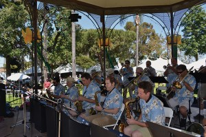 Coronado Big Band, an 18-piece swing band that plays perennial favorites, is among the popular entertainment groups at the Coronado Flower Show