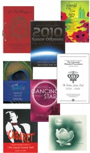 A sampling of gala programs over the years